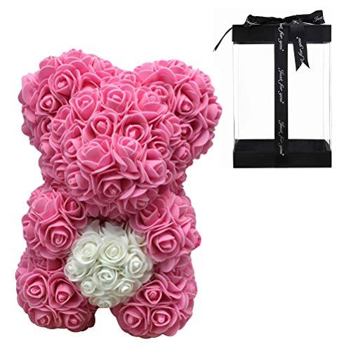 buycheapDG(JP)造花 バラ ローズベア ソープフラワー ローズ熊 ぬいぐるみ バレンタイン ギフト 誕生日 プレゼント くま 枯れない花 手作り バラ 贈り物 母の日 記念日 精巧で美しい贈り物箱付く