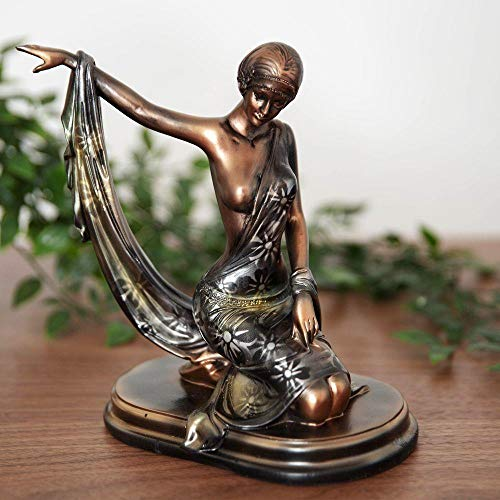 Widdop Silhouette Collection Bronzed Kneeling Lady Figurine Ornament