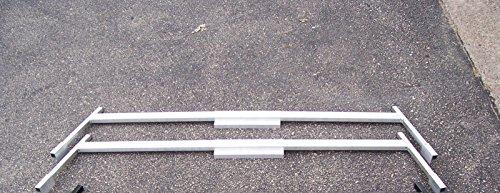 EZ Wheeler Heavy Duty Universal Boat/Ladder Rack for Aluminum Truck Caps - Mill Finish (BR1X2M)