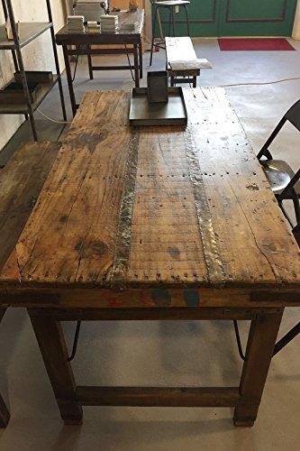 STUFF Loft Vintage Esstisch Tisch aus Holz klappbar Shabby-Chic Brown 160 x 75 x 76 cm