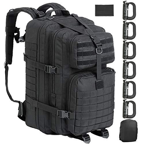 GZ XINXING Militär-Rucksack, 45 l, groß, taktisch, Militär-Stil, 3 Tage, Herren, schwarz, Large