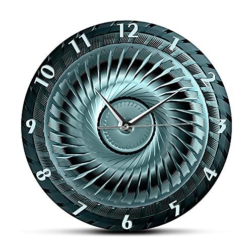 NIGU Día del miembro regalos para las mujeres rueda de acero industrial con cuchillas reloj decorativo para mecánico automotriz tienda hombre cueva