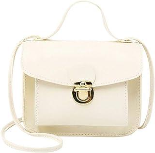 Niome Crossbody Shoulder Bags for Women Chain Leather Purse Satchel Handbags White