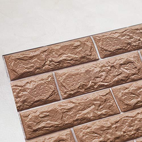 Marca blanca Adhesivo de Pared Azulejos 3D Cemento Azulejo Adhesivo Adhesivo de Pared Credencia Adhesivo Decorativo Cocina Baño 45cmX10m