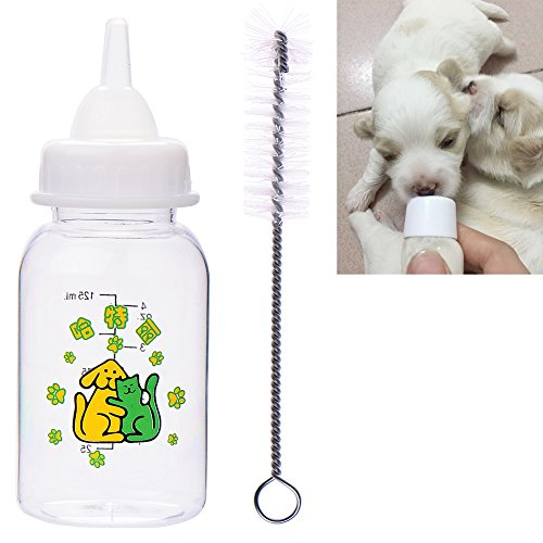 chendongdong Botella de Leche de plástico para Mascota, Perro, Cachorro, Gato, Cuidado de enfermería, alimento de Alimentos, 125 m