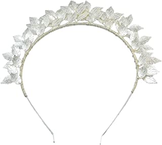 Lurrose Wedding Crown Leaf Headband Bridal Crystal Crystal Tiara Hair Band Hair Accessories for Wedding
