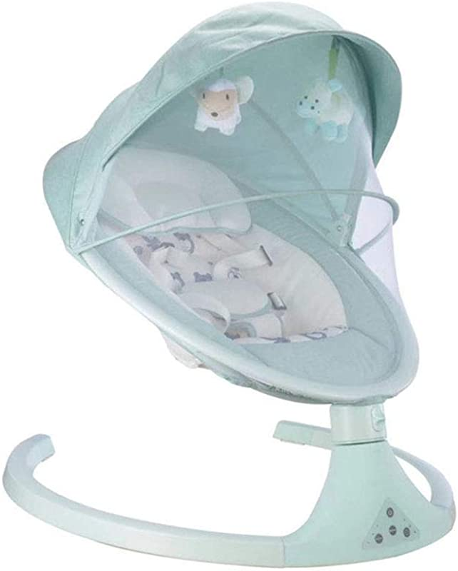 Baby Rocking Chair Electric Rocking Chair Foldable Baby Sleep Smart Bed Blue