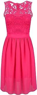 Vestido YONGYONGCHONG Color sólido de Las señoras del Verano Color ...