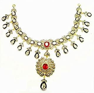 costozon uncut necklace 10.85 Tcw Ruby Rose Cut Diamond 925 Sterling Silver antique jewellery