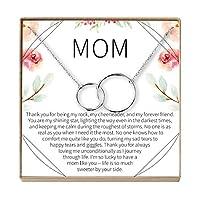 Dear Ava Mom ギフトネックレス:マザーネックレス、ネックレス、母娘、2つのインターロックサークル
