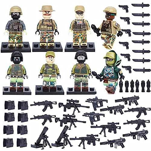 8 piezas Lego figuras mini militares soldados armas de guerra mini juguetes de construcción se adapta