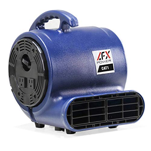 CAT 1 Air Mover Blower Carpet Dryer Floor Fan for Restoration and Janitorial Use to Clean and Dry Water Spills Leaks or Floods 1/5 HP