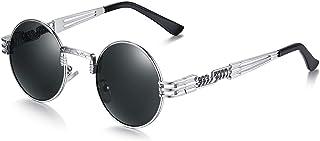 6b0d8789adbb8 WHCREAT Rund Retro Polarisierte Sonnenbrille Steampunk Stil Brillen
