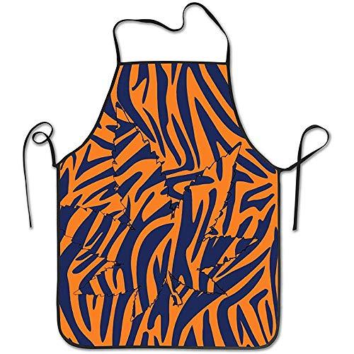 DSFA Blatt Tiger Print Schürze Küchenchef Kochen Kreative Lustige Grillen Backen 52 * 72 cm