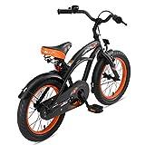 BIKESTAR Kinderfahrrad für Jungen ab 4-5 Jahre | 16 Zoll Kinderrad Cruiser | Fahrrad für Kinder Schwarz (matt) | Risikofrei Testen - 4