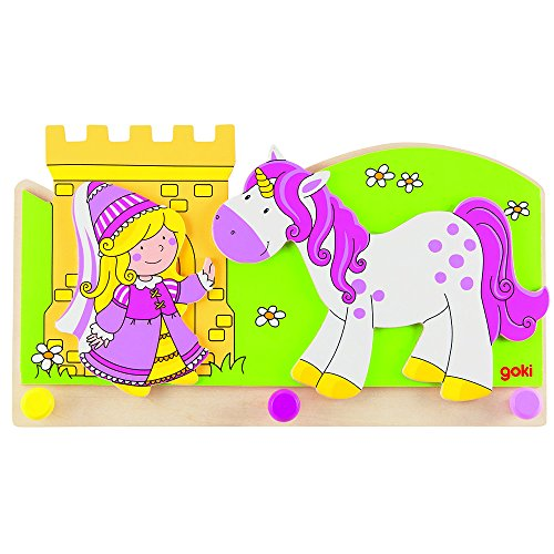Goki - Kapstok - Prinses met eenhoorn - 3 Haakjes