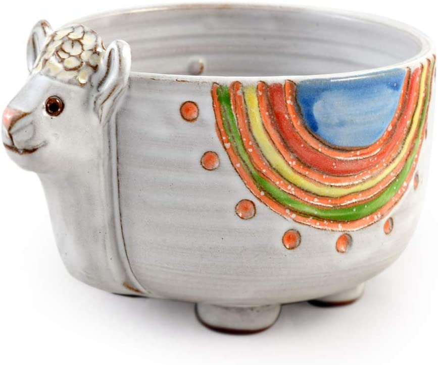 Branded goods Dolly High quality the Llama American Made Stoneware Pottery 16-oz Bowl