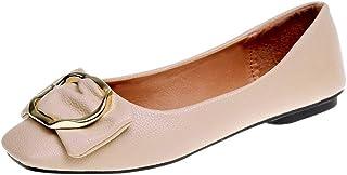 Ballerines Plate /à Enfiler Femme,Overdose Pas Cher Chic Chaussures Plates avec Noeud Casual Loafers Bout Carr/ée 35-40