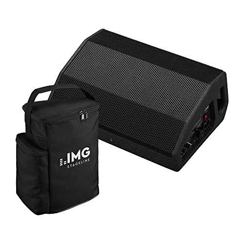 IMG Stageline Flat-M200 actieve Foldback Monitor Speaker Wedge Busker PA Bundel