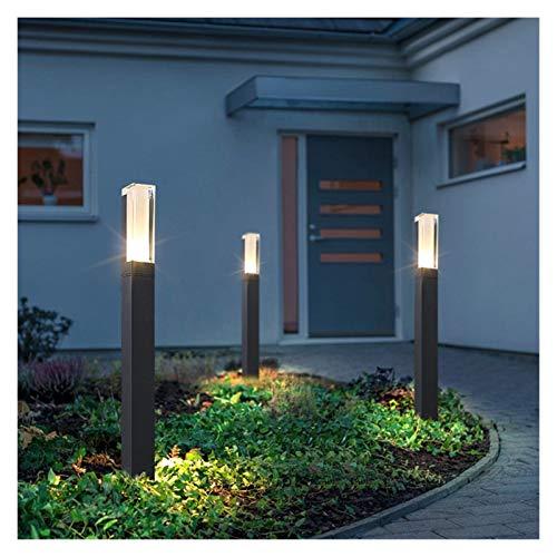 RH-HPC Im Freien wasserdicht IP65 10W LED Rasen-Lampe Aluminium Säule Gartenweg Quadrat Landschaft Leuchte for Rasenplatz (Color : 40CM, Emitting Color : Cool White)