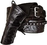 Modestone 44/45 Left Cross Draw High Ride/Rise Holster Cinturón con Pistolera Leather 46