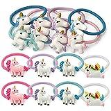 Aivivo Girls Unicorn Elastic Hair Ties Rope Ponytail Holders Hair Bands(16 Pcs)