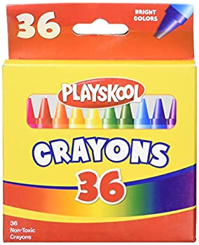 Playskool 36 Bright Colors Crayon Box