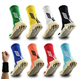Dee Plus Antiderapante Chaussettes Hommes Femme Sport, de Chaussettes Colorées Antidérapantes Coton, Epaisse, Respirant Athlétisme Chaussettes pour Football Handball Ski Rugby Velo Basketball