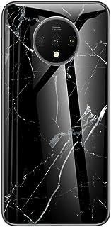 Muntonski 7T Case Compatible with Oneplus 7t Cover Marble Luxury Slim Cases One Plus 1plus 7tcase Oneus Oneplus7t 6.55 Inch (Black)