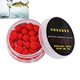 Vbestlife 30Pcs/Box Smell Soft Fishing Lure Soft Boilies Fishing Bait Boilies Floating Smell Ball Beads Feeder Artificial Carp Baits Lure (Red 12mm)