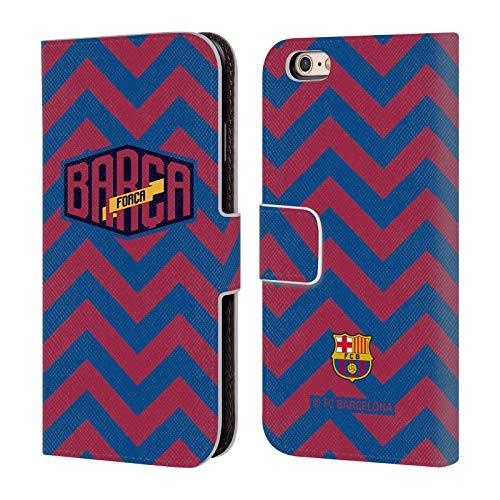 Head Case Designs Oficial FC Barcelona Chevron 2019/20 Forca Barca Carcasa de Cuero Tipo Libro Compatible con Apple iPhone 6 / iPhone 6s