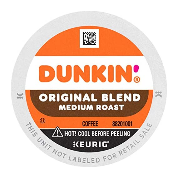 Dunkin' Best Sellers Coffee Variety Pack, 60 Keurig K-Cup Pods 4 Contains 4 boxes of 32 K-Cup pods (128 count total) Original Blend is the coffee that made Dunkin' famous, featuring a rich, smooth taste unmatched by others Medium roast coffee, specially blended and roasted to deliver the same great taste as the brewed Dunkin' coffee available in Dunkin' shops