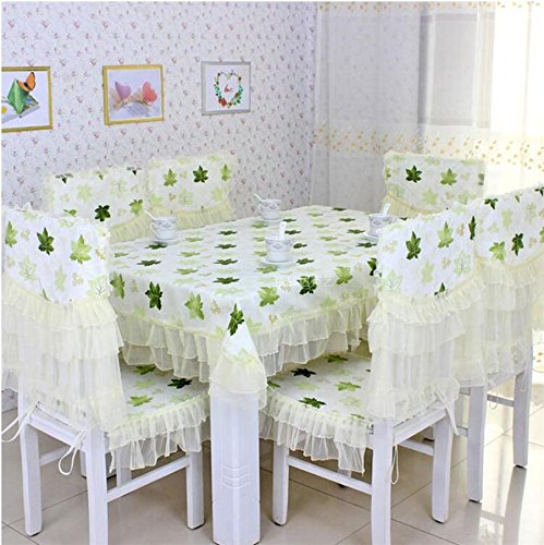 tissu, nappes, coussin de chaise, couverture de chaise pastorale,130*180CM