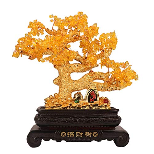 Feng Shui Denaro/Feng Shui Regalo Citrino Fortune decorazione dell'albero di Feng Shui dell'albero fortunato salone della casa di Governo del vino decorazioni Money Tree apertura regali Cristalli Feng