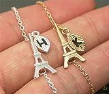 Eiffel Tower Bracelet, Personalized Initial Bracelet MP-B12