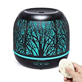 500ml Diffuser for Essential Oil, Bligli Premium Metal Aromatherapy Diffusers Air Humidifiers for Home Office Kitchen Nursery Room with Remote Control, Candle Light Mode and Classic Decoration