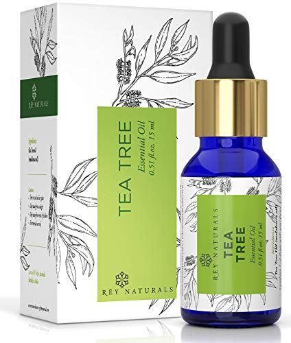Rey Naturals Tea Tree Essential Oil for Aromatherapy - Tea Tree Essential Oil for Healthy Skin,...