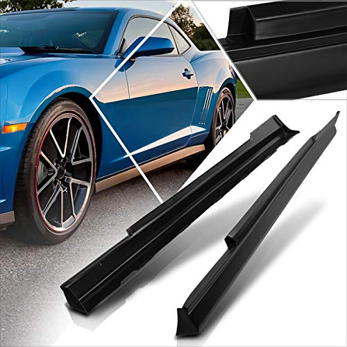 ABS Lower Side Skirts Rocker Extension Panel Splitter Lip Body Kit Compatible with 10-15 Chevy Camaro