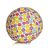 Abanico Bubabloon_BB-321 BB-17501 - BubaBloon Ballonhülle Circles, kinderfreundliche, textile Ballonhülle aus hochwertiger Popeline Baumwolle, inklusive 3 Latex Luftballons -
