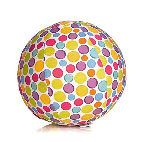 Abanico BB-17501 - BubaBloon Ballonhülle Circles, kinderfreundliche, textile Ballonhülle aus hochwertiger Popeline Baumwolle, inklusive 3 Latex Luftballons