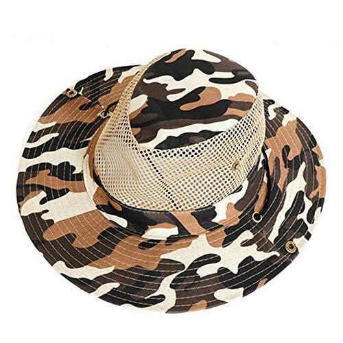 N/A Sombrero de Verano Female Hat poliéster al Aire Libre y la sombrilla del Acoplamiento del Casquillo del Sombrero de Camuflaje Pescador Sombrero 0709 (Color : B)