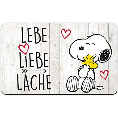 for-collectors-only Snoopy Schneidebrett Frühstücksbrettchen Lebe Liebe Lache ! Frühstücksbrett Schneidebrettchen Peanuts