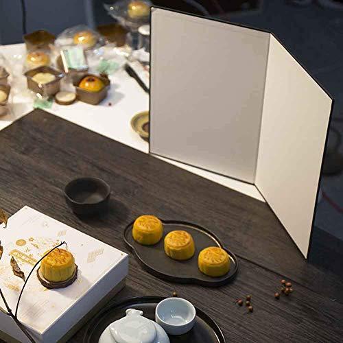 Dengofng - Diffusore Fotografico 3 in 1, Pieghevole, in Cartone Bianco e Nero e Argento, per Foto e Cibo, Formato A3 e A4 Opzionale a3