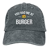 Wdskbg Gorra de béisbol Unisex Ajustable de Mezclilla de algodón Que me tenías en Burger Trucker Cap Unisex29