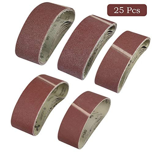 WOWOSS 25 Piezas Grano Bandas de Lija Tejido 75x533mm,