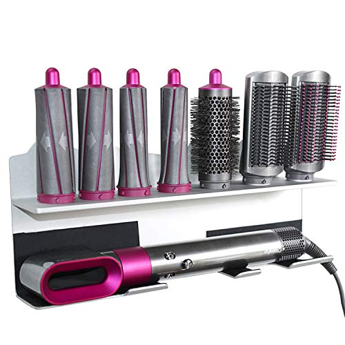 Soporte KEESIN para secador de pelo con tenaza para rizos Dyson Airwrap Styler y 7 accesorios de rizos