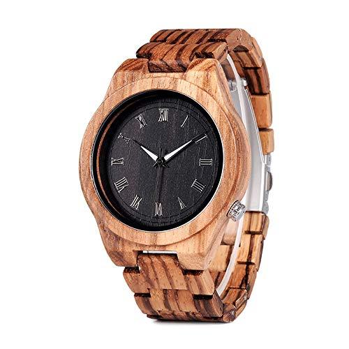 Relojes para Hombre Reloj para Hombre Relojes de Pulsera de Madera Relojes