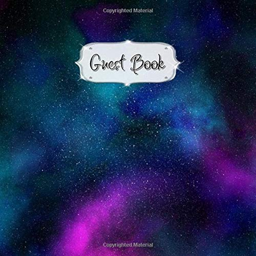 Guest Book: Galaxy Sign In, Wishes, Messages, and Comments | Includes Gift Log | #11