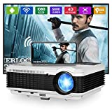 """Wireless Bluetooth WiFi Projector LCD Outdoor Movie Home Theater Full HD 1080P Video Projector with 5000 Lumen 200"""" Display Built-in Speaker for Smart Phone Laptop Tablet DVD TV Stick PS5 Wii HDMI USB"""