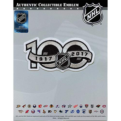 National Hockey League NHL 100th Anniversary Patch Jersey Sleeve Logo Embroidered Iron On